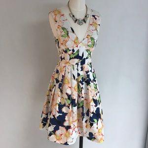J CREW Fit+Flared Floral Mini Dress NWT